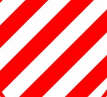 Red Candy Stripes Heart Sticker