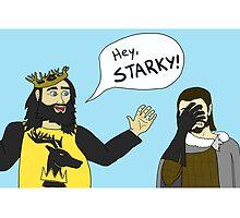 Hey, Starky by serjaybird