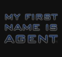 My First Name is Agent One Piece - Short Sleeve