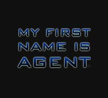 My First Name is Agent Womens Fitted T-Shirt