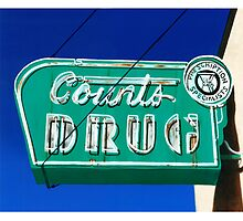 Drug Store Neon Sign by Elizabeth Aubuchon