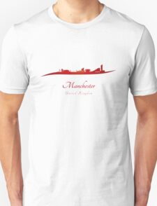Manchester skyline in red T-Shirt