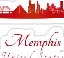 Memphis skyline in red Sticker
