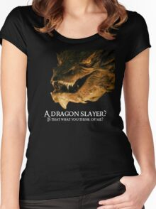 A dragon slayer? Women's Fitted Scoop T-Shirt