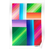 COLORED STRIPES Poster