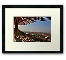 The Look from Hyria into Gush Dan Area Framed Print
