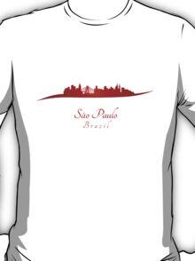 Sao Paulo skyline in red T-Shirt