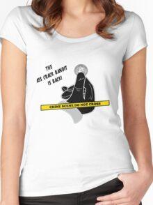 Ass Crack Bandit Women's Fitted Scoop T-Shirt
