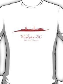 Washington DC skyline in red T-Shirt