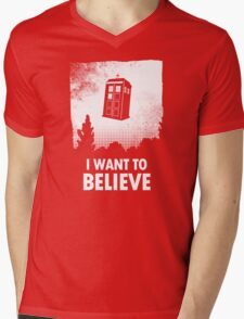 I Want To Believe  Mens V-Neck T-Shirt