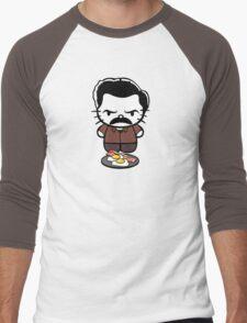 Hello Bacon and Eggs Men's Baseball ¾ T-Shirt