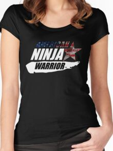 AMERICAN NINJA WARRIOR USA BOXING MOVIE Women's Fitted Scoop T-Shirt