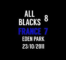 All Blacks / New Zealand 8-7 France - 2011 rugby world cup final by lovesports