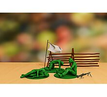 Toy Soldiers - Defeated Photographic Print