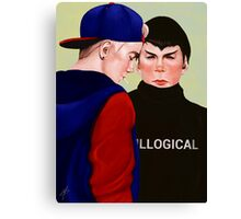 Kirk and Spock in High School Canvas Print