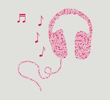 Music Notes Headphones by AiReal Apparel T-Shirt