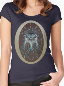 River Otter! Women's Fitted Scoop T-Shirt