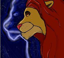 The Lion King- Simba and Mufasa by mintyjade