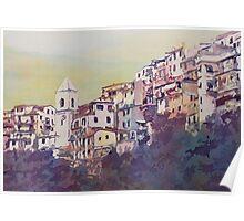 Riomaggiore Hillside Poster