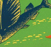 Aloha Hawaii Vintage Flying Fish image Sticker