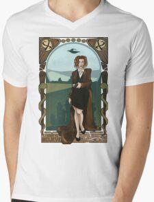 Dana Scully Art Nerdveau Mens V-Neck T-Shirt