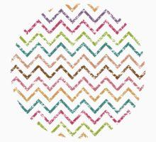 Colorful grunge chevron zig zag pattern Kids Clothes