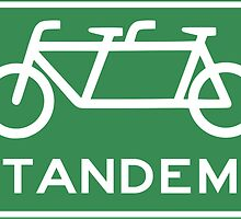 Tandem Bicycle Sign by mayfairbicycle