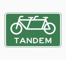 Tandem Bicycle Sign T-Shirt