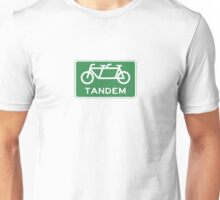 Tandem Bicycle Sign Unisex T-Shirt