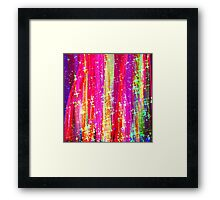 WATERFALLS Abstract Acrylic Pink Purple Ocean Waves Stars Fine Art Painting Framed Print