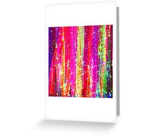 WATERFALLS Abstract Acrylic Pink Purple Ocean Waves Stars Fine Art Painting Greeting Card