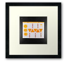Electrigram-Orange Framed Print