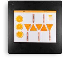 Electrigram-Orange Canvas Print