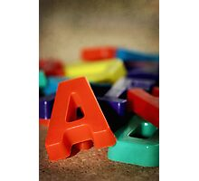 Alphabet Fun Photographic Print