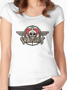 SkullGirls Logo Women's Fitted Scoop T-Shirt