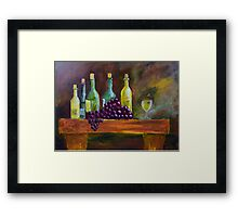 Wine Treat Framed Print