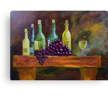 Wine Treat Canvas Print