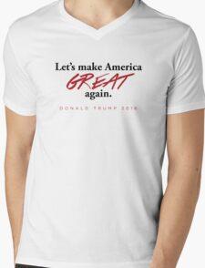 Donald Trump - Let's Make America Great Again Mens V-Neck T-Shirt