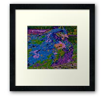 Abstract Hen and Chick Framed Print
