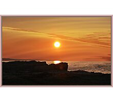 Night Fire Series - Mid January Sun Photographic Print