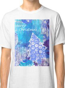 Xmas Card Design 105 in Blue Classic T-Shirt