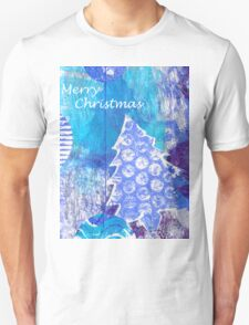 Xmas Card Design 105 in Blue T-Shirt
