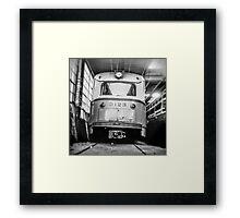 Vintage Streetcar Trolley 1219 Framed Print