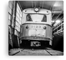 Vintage Streetcar Trolley 1219 Canvas Print