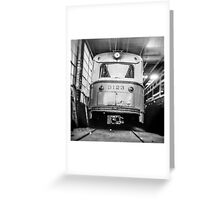 Vintage Streetcar Trolley 1219 Greeting Card