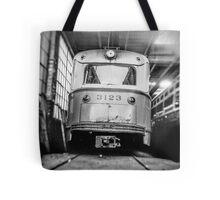 Vintage Streetcar Trolley 1219 Tote Bag