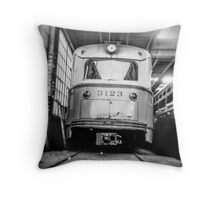 Vintage Streetcar Trolley 1219 Throw Pillow
