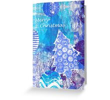 Xmas Card Design 105 in Blue Greeting Card