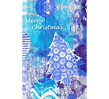 Xmas Card Design 105 in Blue Photographic Print