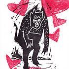 Krampus Valentine Hearts Are Yummy by craftyhag